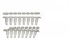 Пробирки для ПЦР Expell 0.2 мл, в стрипах по 8 шт, тонкостенные, с плоскими крышками, прикрепленными к каждой пробирке