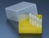 Криобокс L, с крышкой, для 81 криопробирки 3,8 мл / 4,5 мл, до -196С, РР, стерильный. Автоклавируемый
